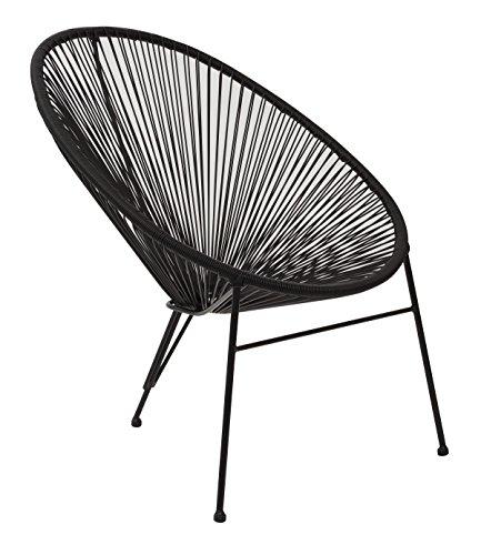 OSP Designs WM5733A4-3 Bungee Black Metal Chair with Resin Webbing (4-Pack) -