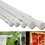 27-49''/70-124cm Extendable Window Curtain Telescopic Pole Shower Curtain Rod