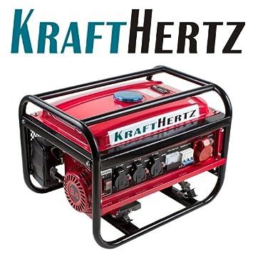 Generador de corriente Benzin Power 4.8 kW (6,5 CV) Krafthertz ...