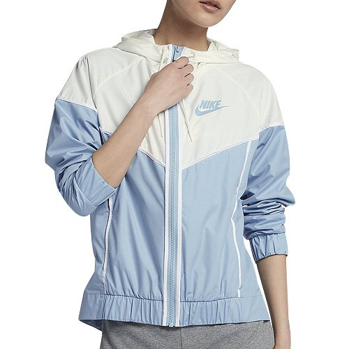 NIKE Womens Windrunner Track Jacket Leche Blue/Sail/White 883495-440 Size X-Small