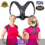AAAFysio Back Posture Corrector Clavicle Brace for Women Men - Effective & Comfortable Best for Slouching Hunching - Discreet & Adjustable Offers Good Upper Back Neck Shoulder Support for Pain Relief
