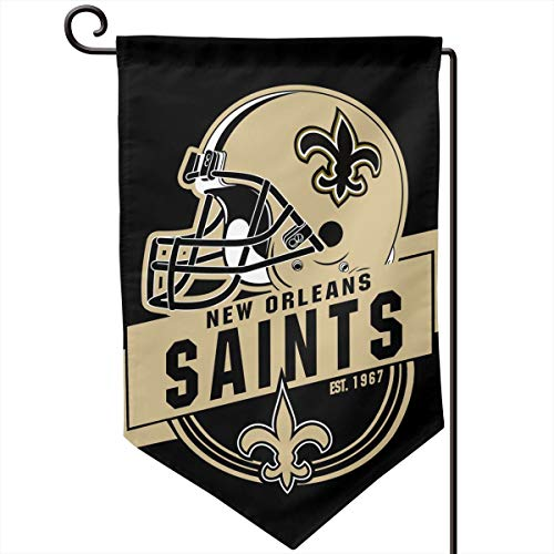 Marrytiny Design Colorful Garden Flags American Football Team New Orleans Saints Durable Double Sided 12.5 x 18 Inch 100% Polyester Home House Wall Flag Decor ()
