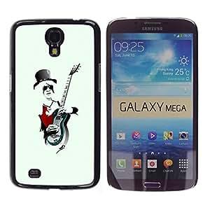 LECELL -- Funda protectora / Cubierta / Piel For Samsung Galaxy Mega 6.3 I9200 SGH-i527 -- Rock Guitar Player Cool --