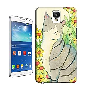 Longcase Cute Cat Snap-On Antiwear Hard Case Cover For samsung galaxy note3