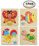Best Learning Toys For 4 Year Old Boys - 3D Jigsaw Wooden Puzzles for Girls Boys Toddlers Review