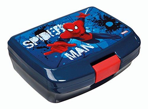 Scooli SPON9900 - Brotzeitdose Spiderman, circa 13 x 17 x 6 cm, blau