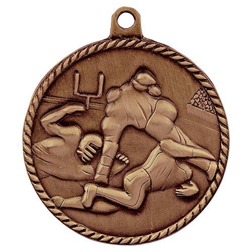 Medal Footbal Trophys Trophies (Trophy Cruch Football Medal Medal and Ribbon in Bulk Spartan Series)