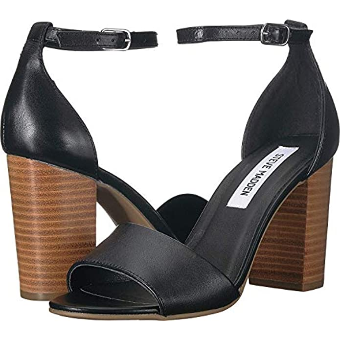 Scarpe E Borse Da Donna Sandali Steve Madden Women's Kevlyn Black Leather 10 M Us