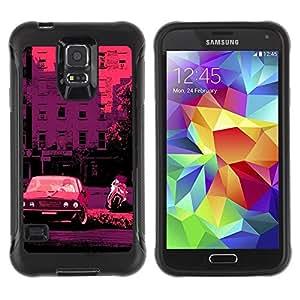Suave TPU GEL Carcasa Funda Silicona Blando Estuche Caso de protección (para) Samsung Galaxy S5 V / CECELL Phone case / / Retro Car Bike Italy France Pink /