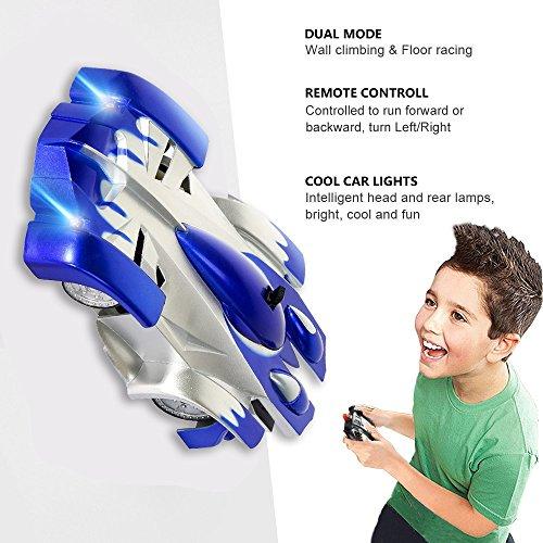 Toys For 5 8 Year Old Boys Joyjam Wall Climbing Car RC Cars Stunt Vehicle Race Kids 6 10 Christmas Birthday Gifts PQC Blue