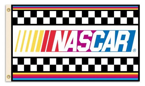 NASCAR with Stripes 3 x 5-Feet Flag with Grommets