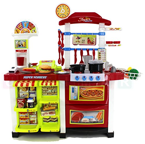 cocina de juguete con cocina moderna con la luz el sonido hervidor de agua y un monton de accesorios mi primera cocina mini kitchen