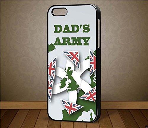 Dad's Army D1Carte Don't Panic–pour iPhone et Samsung cas (Téléphone Noir iPhone 5C)