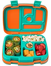 Bentgo Kids Brights – Leak-Proof, 5-Compartment Bento-Style Kids Lunch Box – Ideal Portion Sizes for Ages 3 to 7 – BPA-Free, Dishwasher Safe, Food-Safe Materials (Orange)