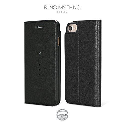 Bling-My-Thing iP7-pri-cn-jet Casino Wallet Serie Luxuriöses und einzigartiges Design veredelt mit original Swarovski Kristallen, modisches Leder-Case für Apple iPhone 7 Migrage