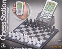 Excalibur Electronic CHESS STATION 2 in 1 CHESS COMPUTER w Magnetic Sensory Chess Board!