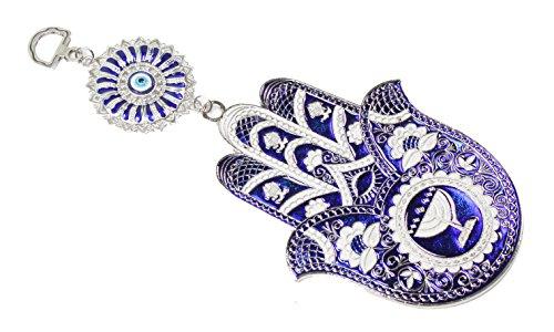 Turkish Blue Evil Eye  Nazar  Hamsa Hand Elephant Amulet Wall Hanging Home Decor Protection Blessing Housewarming Birthday Gift Us Seller