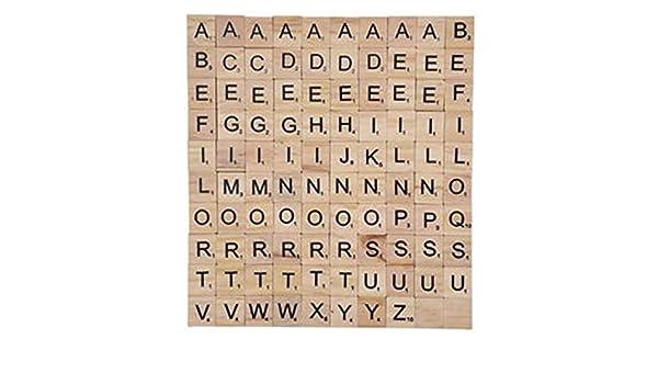 Madera de la Letra Azulejos Números Azulejos Alfabeto ...