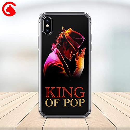 - CatixCases Michael Jackson King of Pop Phone Case Cell Plastic Сlear Case for Apple iPhone X/XS/XR/XS Max / 7/8 / plus iPhone 6 / 6S plus Protector Protective Cover Art Print Design