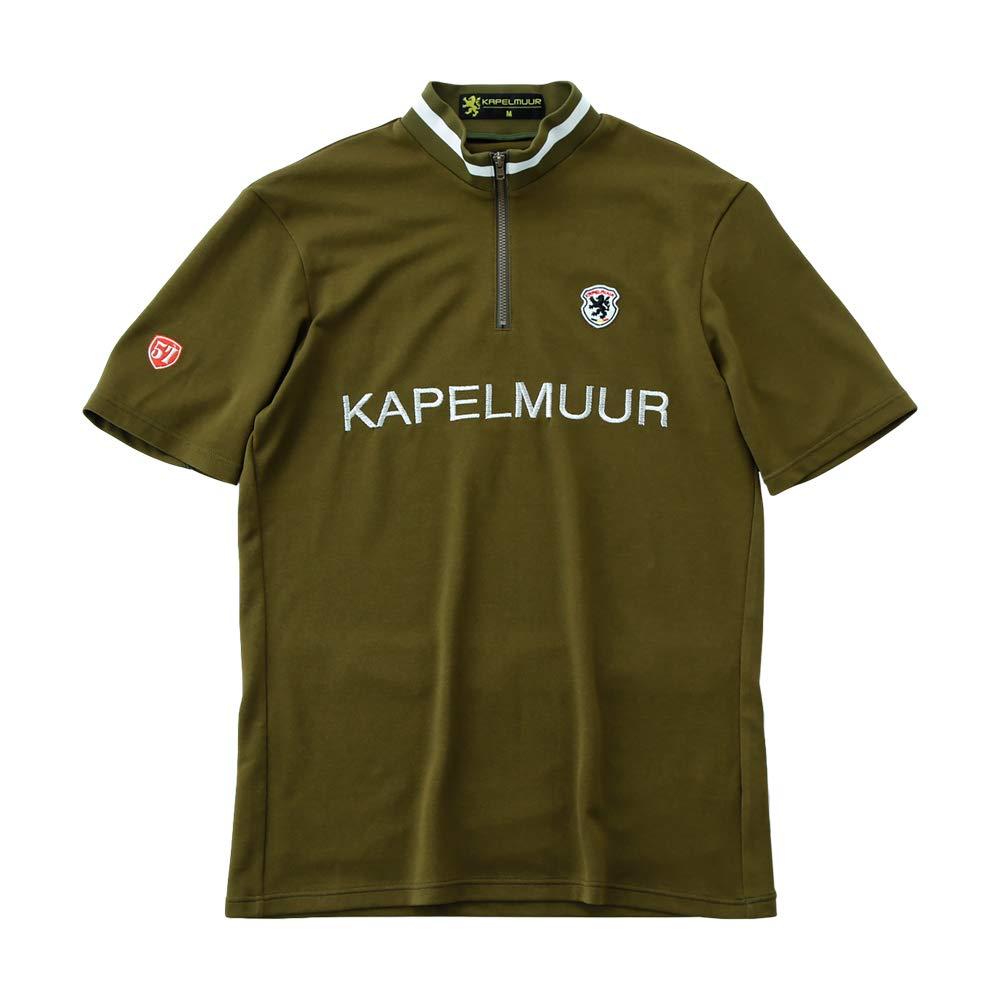 KAPELMUUR(カペルミュール) 半袖レトロジャージ ヴィンテージカーキ L  B07PRQLMY4
