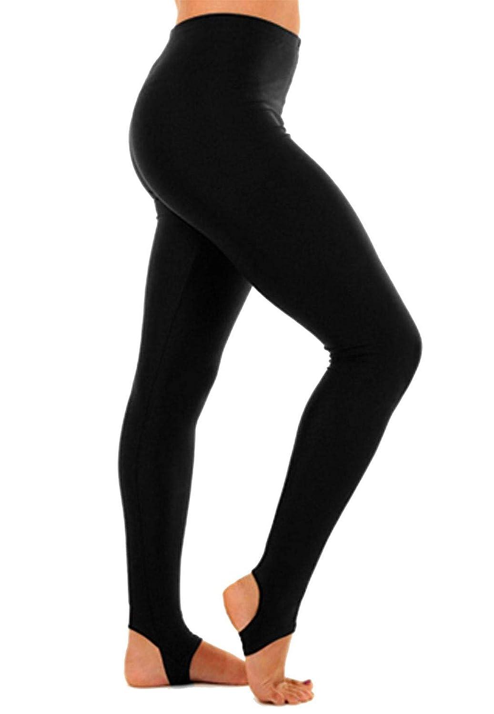 Hi Fashionz Girls Children Kids Stirrup Leggings Dance Gymnastics Shiny Nylon Lycra Pants 3-4 Years
