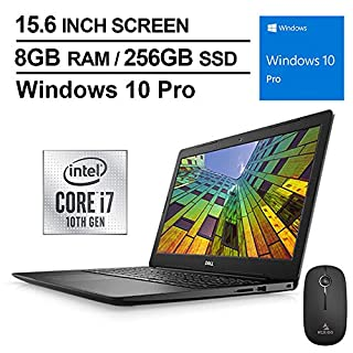 2020 Newest Dell Vostro 15 3590 FHD 1080P Laptop, Intel 4-Core i7-10510U up to 4.9 Hz, AMD Radeon 610 2GB, 8GB DDR4 RAM, 256GB SSD, Windows 10 Pro + NexiGo Wireless Mouse Bundle