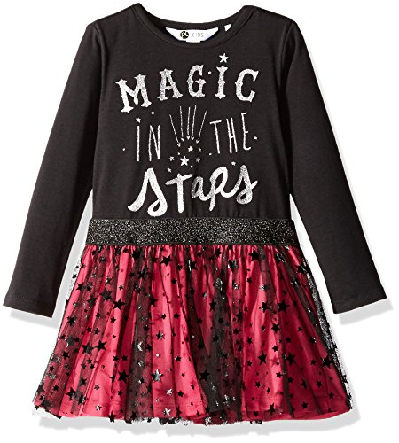 Petit Lem Girls' Little Magical Mischief Dress Knit, 900 Black 3]()