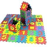 bromrefulgenc Childern EVA Play Mat,36 Pcs Baby Kids Alphanumeric Educational Puzzle Blocks Infant Child Toy Gift