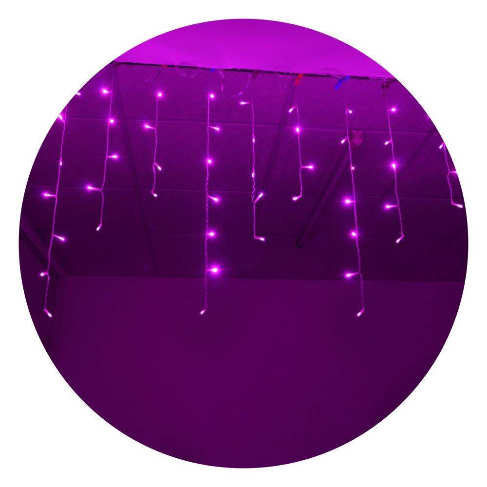 SDOUBLEM 4M 96 LEDs 8 Modes Curtain Window Decorative Room Patio Parties Rope String Wave Light