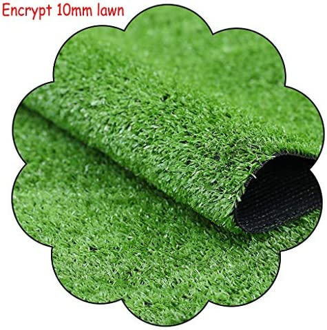 XEWNEG 10MM人工芝、暗号化されたグリーンのフェイク芝生カーペット、防水ノンスリップ、屋外の庭の道壁の装飾のために適し、ペットパッド、幅2メートル (Size : 2x2M)