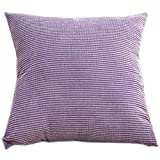 17.72x17.72 inches Square Thicker Corduroy Pillow Cushion Prefect for Home Office and Car, Purple