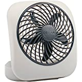 O2COOL 5-Inch Portable Fan, Gray