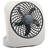 O2COOL 5-Inch Portable Desktop Air Circulation Battery Fan - 2 Cooling Speeds - Compact Folding & Tilt Design