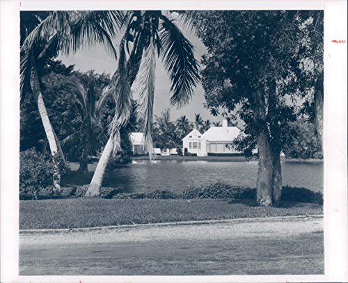 Vintage Photos 1963 Press Photo Historic Tantirn Port Royal Beautiful Home Palm Trees 8x10