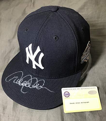 Derek Jeter Ball - Derek Jeter Autographed Signed Memorabilia 2003 World Series New York Yankees Baseball Cap Steiner
