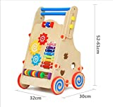 New Wooden Childrens Walker Baby Walker Multi-Function Lifting Wooden Puzzle Shape Cognitive Toys