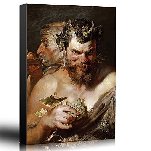 wall26 - Oil Painting of Two Satyrs by Peter Paul Rubens in 1618-19 - Baroque Style - Devil, Catholic, Christianity, Hell - Canvas Art Home Decor - 24x36 inches