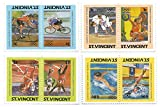 Error Stamps for Collectors: Olympics Leaders of the World Series / 3 Error pairs / SG 812-19 / Scott 765-8 / St Vincent / Later Printing of 1984 Issue