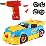 World Racing Car Take-A-Part Toy for Kids with 30 Take Apart Pieces, Tool Drill, Lights and Sounds