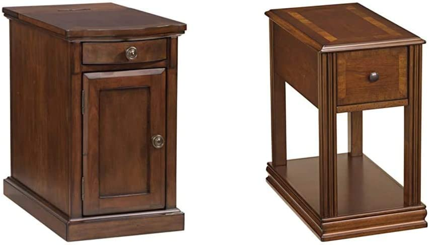 Signature Design by Ashley Laflorn Chairside End Table with USB Ports & Outlets - Medium Brown & Breegin Chair Side End Table Multi