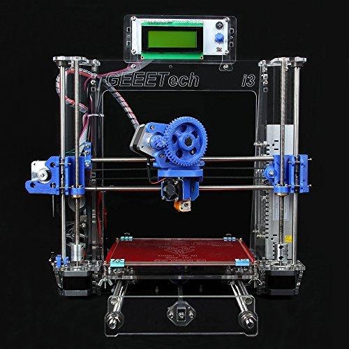 Geeetech Full Kit, Transparent Color, Acrylic Frame, Reprap Pursa I3 3D Desktop Printer