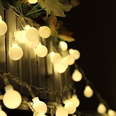 Solar LED Globe String Lights Outdoor 50 LEDs 23ft Waterproof Color Changing Ball Fairy Lights for Garden Party Christmas Wedding New Year Decoration