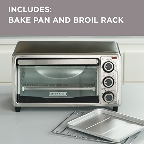 Black Decker To1303sb 4 Slice Toaster Oven Includes Bake