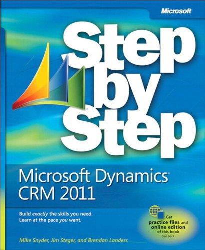 Microsoft Dynamics CRM 2011 Step by Step Pdf