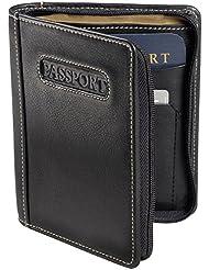 Deluxe Zip-Around Passport Case Color: Brown