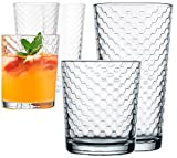 Honeycomb Set Of 8 (4 - 17 Oz Coolers, 4 - 13 Oz Rocks)