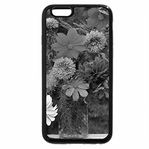 iPhone 6S Plus Case, iPhone 6 Plus Case (Black & White) - Autumn bouquet