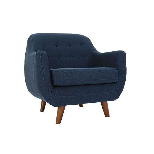Miliboo - Sillón diseño Azul YNOK: Amazon.es: Hogar