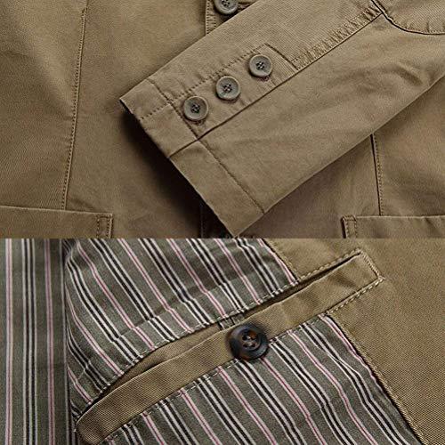 Vintage Vintage Vintage Manica Cappotto Capispalla Marca Giacche Lunga Uomo Mode Mode Mode Risvolto di da Autunno Giacca Inverno Blouson Cacchi Cappotto Fit Slim Moda Casual Uomo nw6ZH0XSq