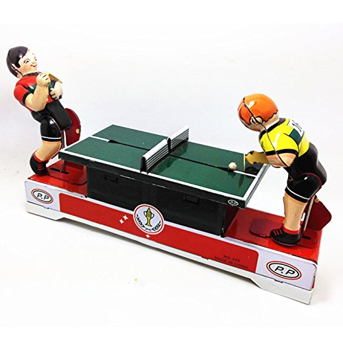 Play Table Tennis Wind Up Tin Toy